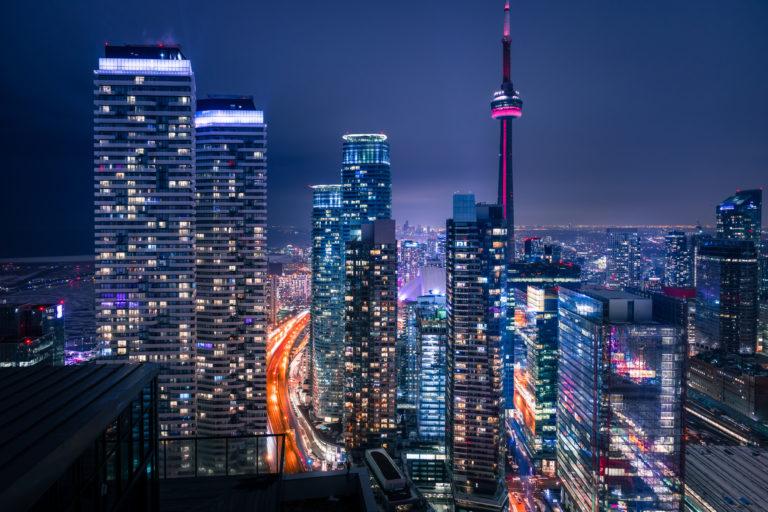 Entire,Futuristic,City,Skyline,View,Of,Downtown,Toronto,Canada.,Modern